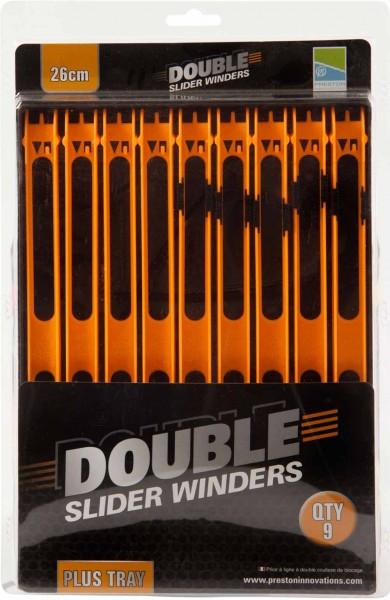 Preston Double Slider Winders 26cm Orange + Inbox Winder Tray