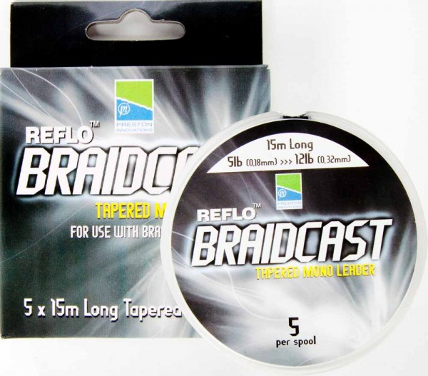 Preston Reflo Braid Cast - Tapered Leaders
