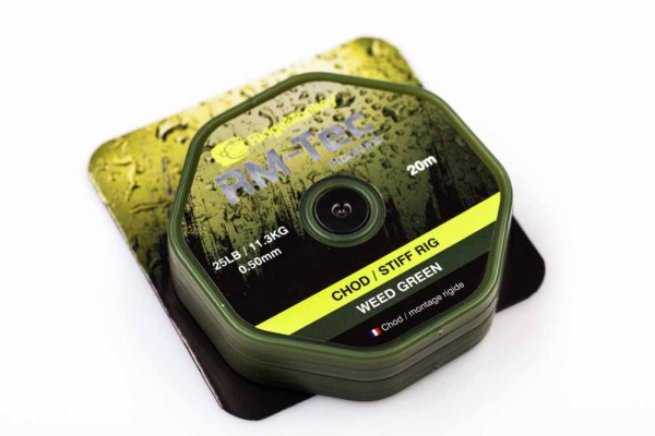RidgeMonkey RM-TEC Chod/Stiff Rig Material Weed Green 25lb 20m