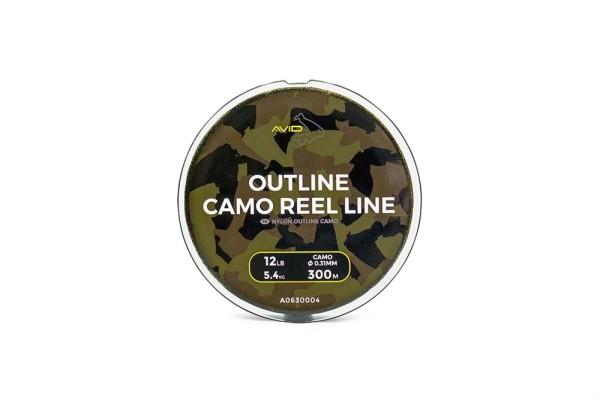 Avid Carp 300m Outline Camo Reel Line 0.31mm 12lb