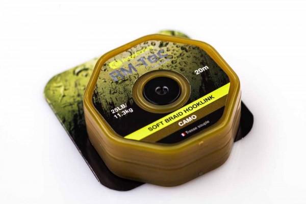 RidgeMonkey RM-TEC Soft Braid Hooklink Camo 25lb 20m