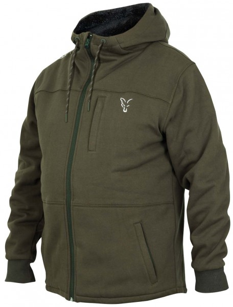 Fox Collection Green / Silver Sherpa Hoodie - L