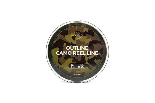 Avid Carp 1.000m Outline Camo Reel Line 0.31mm 12lb