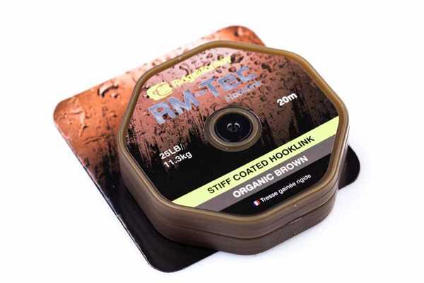 RidgeMonkey RM-TEC Stiff Coated Hooklink Organic Brown 25lb 20m