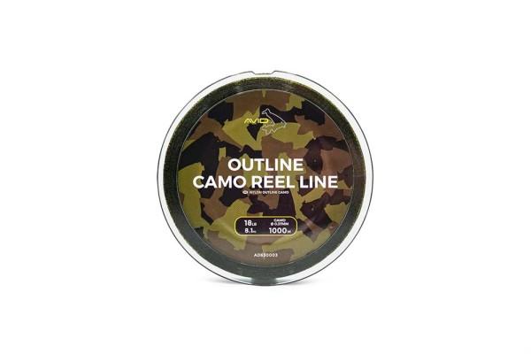Avid Carp 1.000m Outline Camo Reel Line 0.37mm 18lb