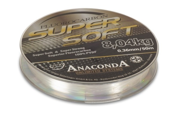 Anaconda Super Soft Fluorocarbon 50m/0,50mm/16,48kg