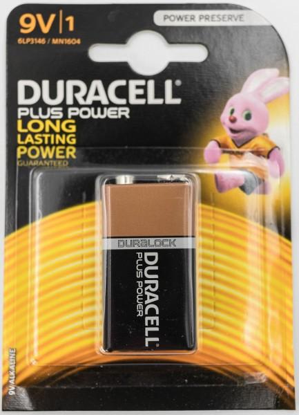 Duracell Plus 9V Block Batterie