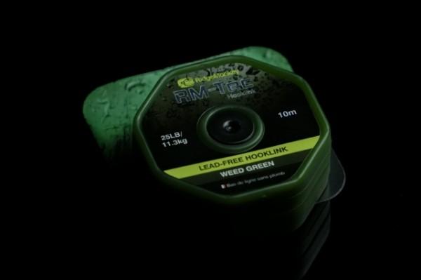 RidgeMonkey RM-TEC Lead Free Hooklink 25lb Weed Green 10m