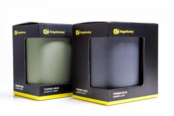 RidgeMonkey Thermo Mug Doppelpack Grün&Grau