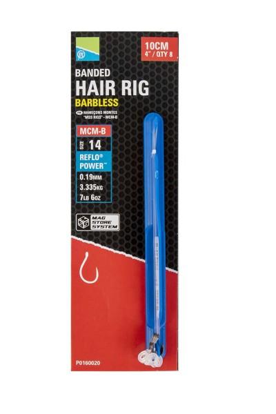 Preston MCM-B Banded Hair Rigs 10cm Sz12