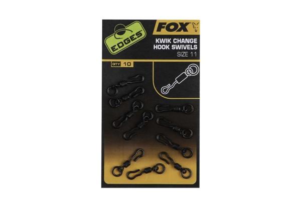 Fox Edges Kwik Change Hook Swivels Size 11 x 10