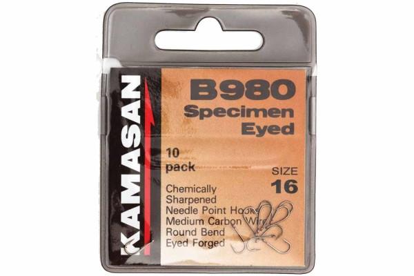 Kamasan B980 Specimen Eyed Haken Größe 18