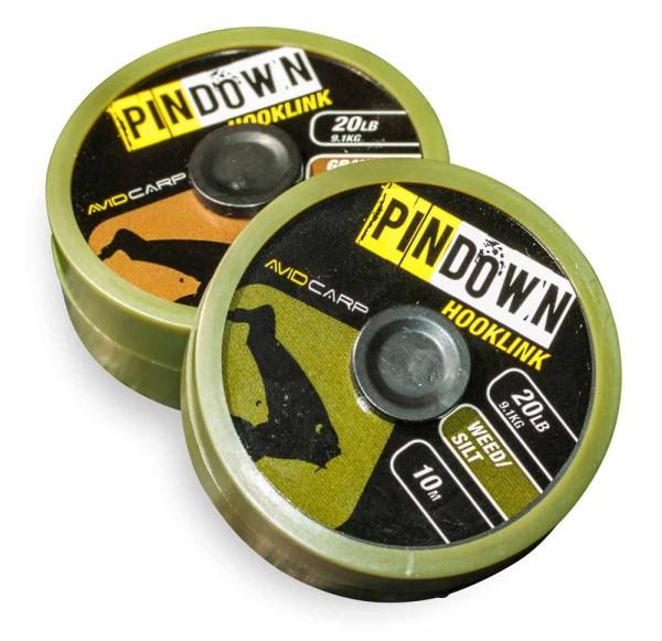 Avid Carp Pin Down Hooklink - Gravel-Clay 20lb