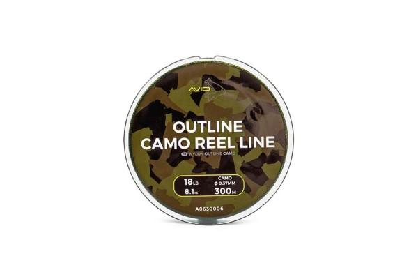 Avid Carp 300m Outline Camo Reel Line 0.37mm 18lb