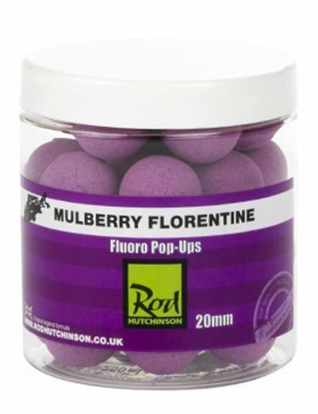 Rod Hutchinson Fluoro Pop Ups Mulberry Florentine with Protaste Plus 20mm