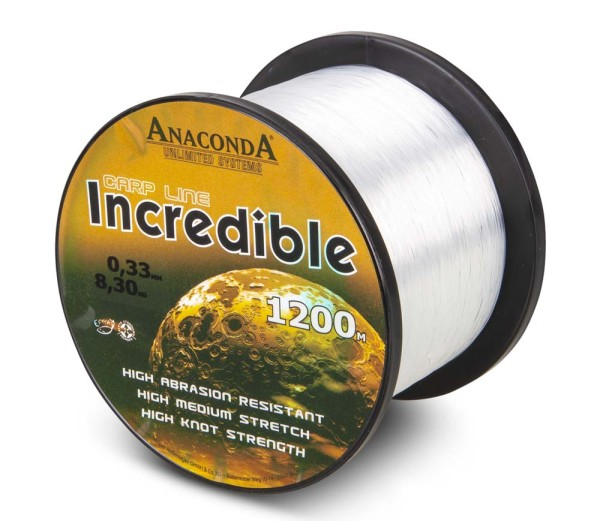 Anaconda Incredible Line Translucent White 5000m 0,37mm