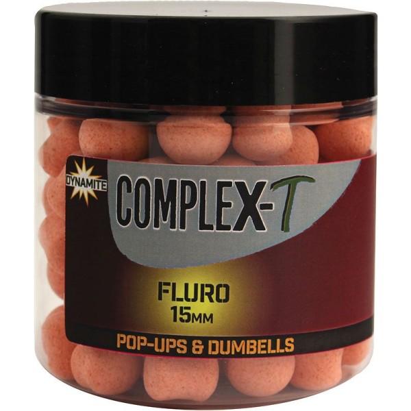 Dynamite Baits Complex-T Fluro Pop Ups& Dumbells 15mm