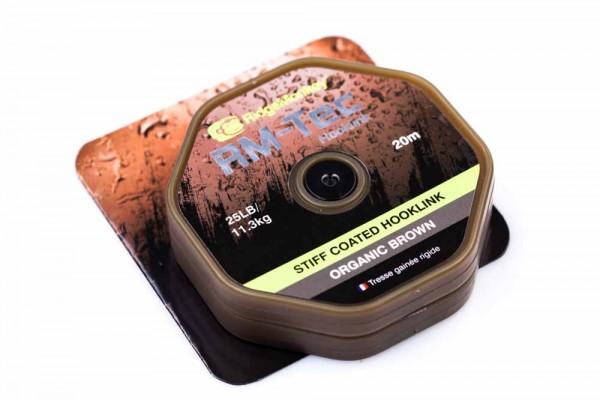 RidgeMonkey RM-TEC Stiff Coated Hooklink Organic Brown 35lb 20m