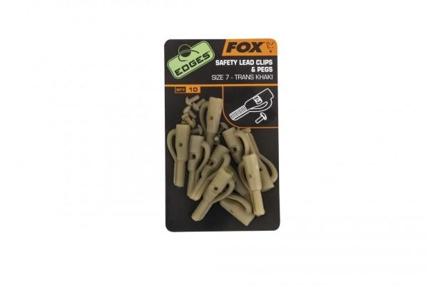 Fox Edges Size 7 Lead Clip + Pegs - Trans Khaki