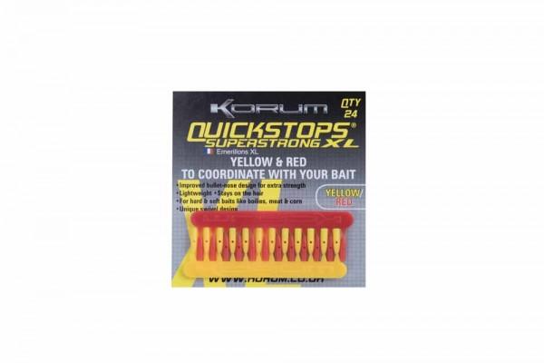 Korum XL Quickstop - Red-Yellow