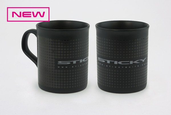 Sticky Baits Matt Black Mug Kaffeetasse