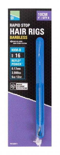 """Preston Mag Store Hair Rig - 4"""" Rapid Stop - Size 18"""