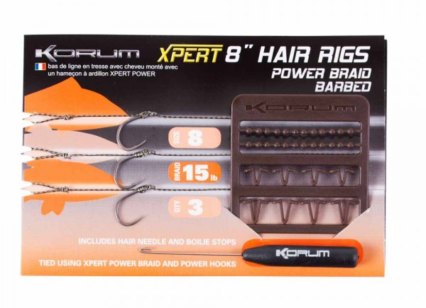 Korum Xpert Power Braid Hair Rig Barbed