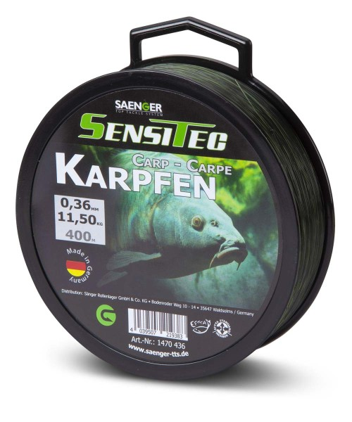 Sensitec Karpfen Camou Green 400m 0,33mm 8,65kg