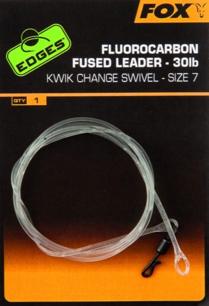 Fox Fluorocarbon Fused Leader - Size 7 mit Kwik Change Wirbel