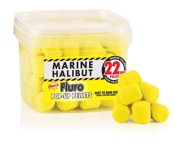 Dynamite Baits Fluro Pop Up Pellet Marine Halibut 22mm