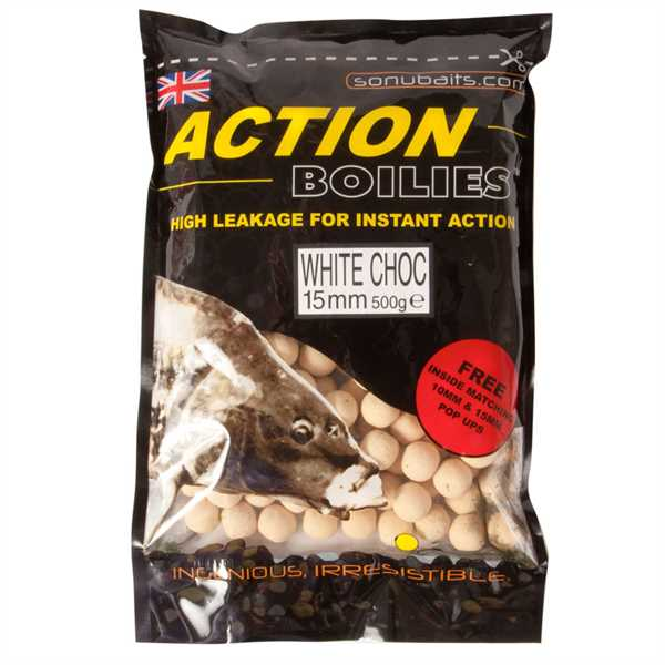 Sonubaits Action Boilies 15mm White Chocolate