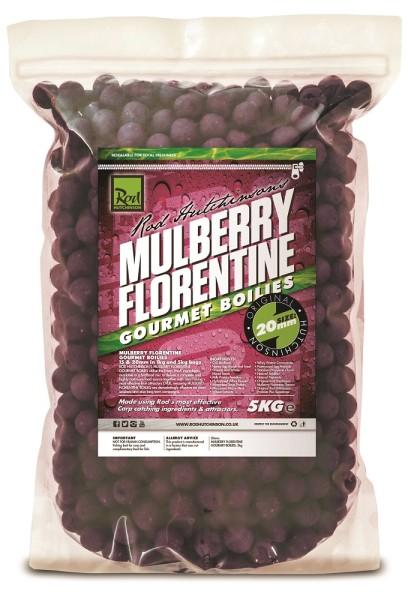 Rod Hutchinson Mulberry Florentine Gourmet Boilies 20mm 5kg