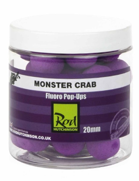 Rod Hutchinson Fluoro Pop Ups Monster Crab with Shellfish Sense Appeal 20mm