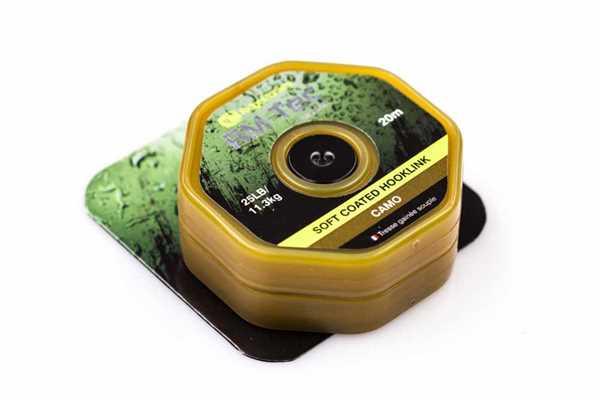 RidgeMonkey RM-TEC Soft Coated Hooklink Camo 25lb 20m