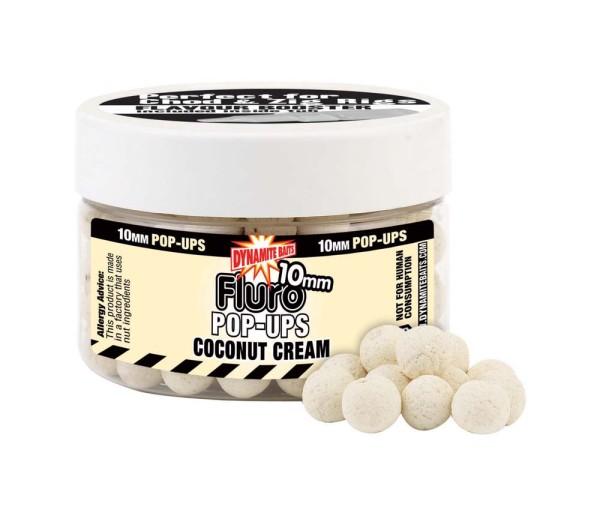Dynamite Baits Fluro Pop Coconut Cream 10mm
