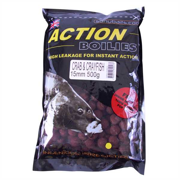 Sonubaits Action Boilies 15mm Crab and Crayfish