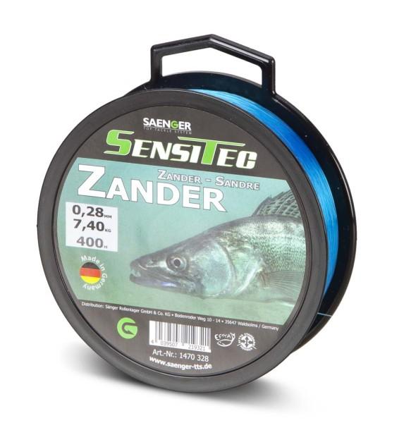 Sensitec Zander Tarnblau 400m 0,28mm 7,40kg