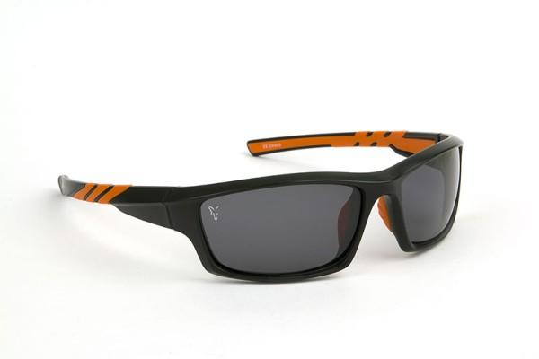 Fox Sunglasses Black / Orange Wraps Grey Lense