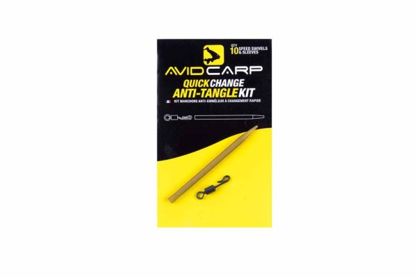 Avid Carp Anti-Tangle Sleeves - Quick Change Swivels