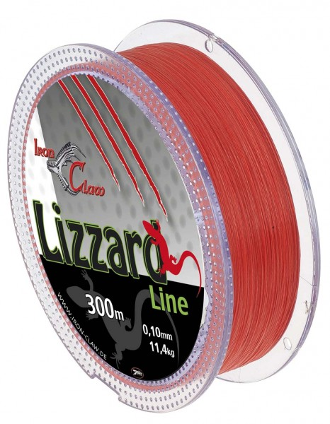 Iron Claw Lizzard Line 0,03 300m Orange