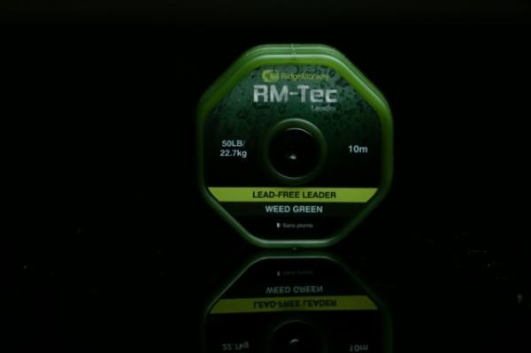 RidgeMonkey RM-TEC Lead Free Leader 50lb Weed Green 10m
