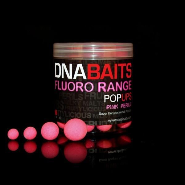 DNA Baits Fluoro Pop Up Pink Perils 12mm