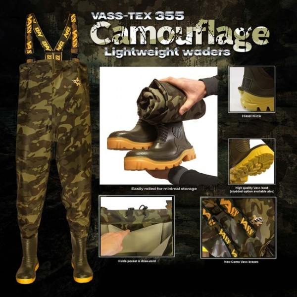 Vass-Tex 355 Lightweight Camouflage Wathose - Gr.47-UK12
