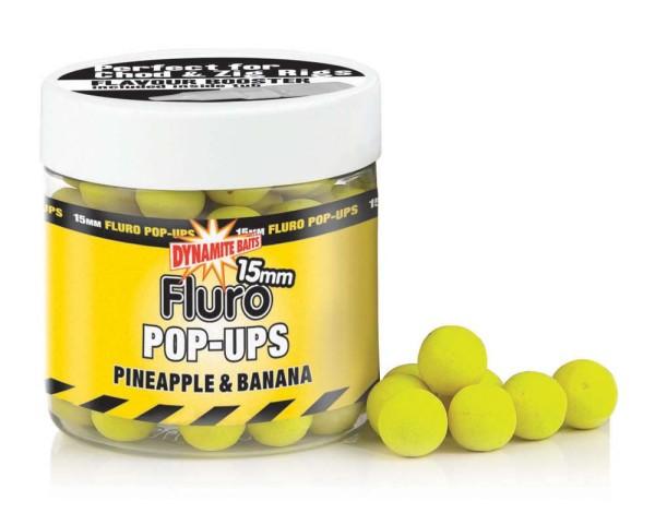 Dynamite Baits Fluro Pop Pineaple&Banana 15mm