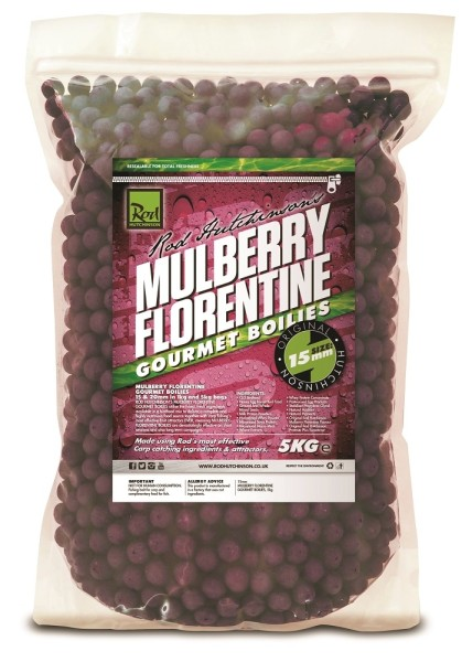 Rod Hutchinson Mulberry Florentine Gourmet Boilies 15mm 5kg