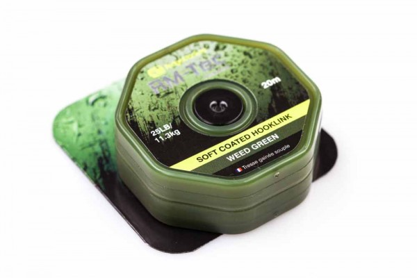 RidgeMonkey RM-TEC Soft Coated Hooklink Weed Green 25lb 20m
