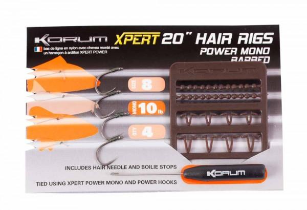 Korum Xpert Power Mono Hair Rig Barbed