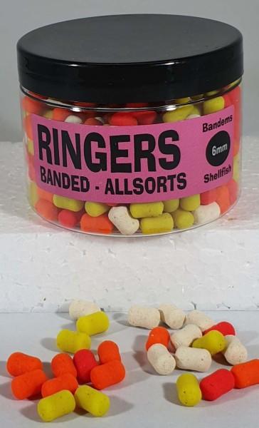 Ringers Banded Allsorts Bandum 6mm 100g