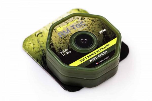 RidgeMonkey RM-TEC Soft Braid Hooklink Weed Green 25lb 20m