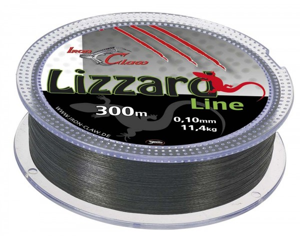 Iron Claw Lizzard Line 0,12 300m Grey